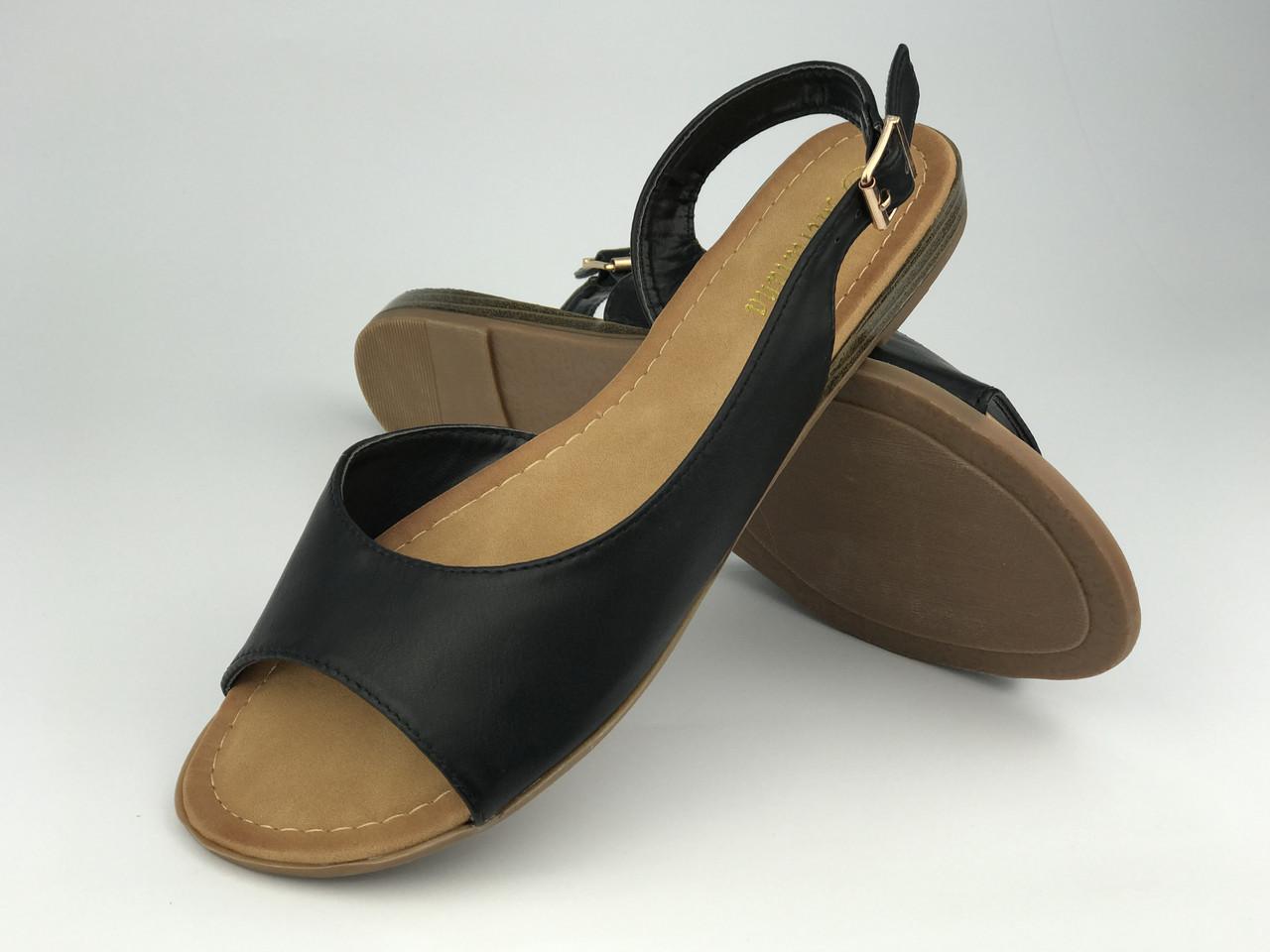 Босоніжки жіночі стильні чорні Meridiana