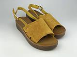 Босоніжки жіночі стильні жовті Meridiana, фото 2