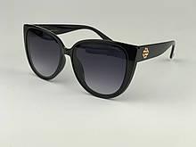 Стильные очки солнцезащитные женские черные CHANEL