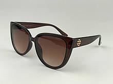 Летние очки солнцезащитные женские коричневые CHANEL