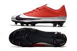 Бутсы Nike Mercurial Vapor XII FG red/grey, фото 2