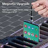 Магнитная зарядка Topk am28 магнитный кабель зарядка на магните с подсветкой. Type C Черный, фото 4