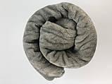 Плед покрывало однотонное 200x220см микрофибра  SOFT COMFORT серое, фото 3