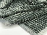 Однотонное покрывало плед со структурным рельефом микрофибра LINA LEGRAND, фото 2