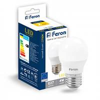 Світлодіодна LED лампа (куля) Feron LB-380 4W Е27