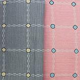 Постільна білизна КЛІТИНА сіро-рожева, сатин, фото 2