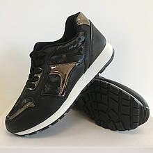 Кросівки для дівчаток чорні LaVento