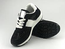 Кросівки для дівчаток чорні сітка LaVento