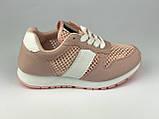 Кросівки для дівчаток рожеві сітка LaVento, фото 3