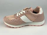 Кросівки для дівчаток рожеві сітка LaVento, фото 4