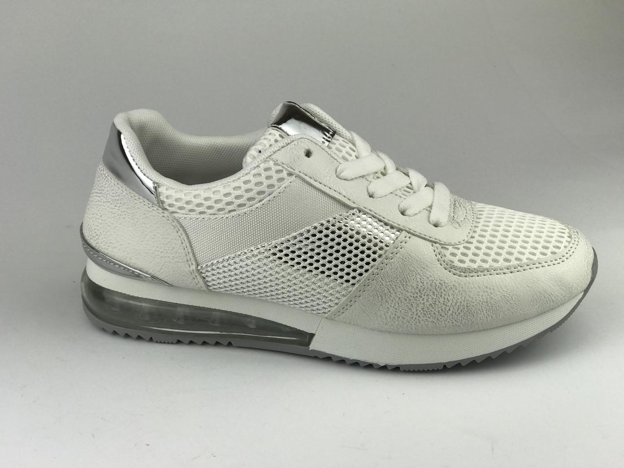 Кросівки жіночі сітка літні білі LaVento
