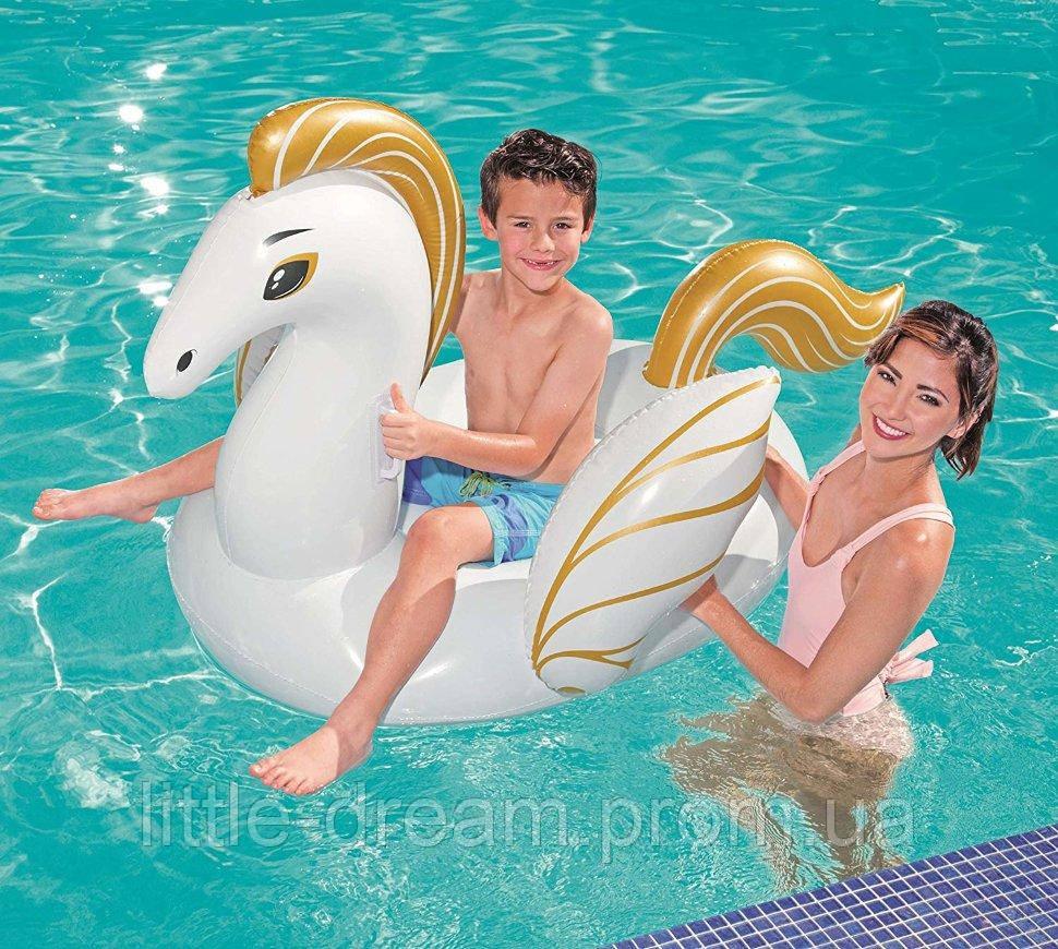 Надувной матрас ( надувной плот ) для катания ( для плавания ) Bestway «Пегас», 159 х 109 см