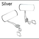 Стильные алюминиевые зеркала для велосипеда или электросамоката 2 шт пара, фото 5