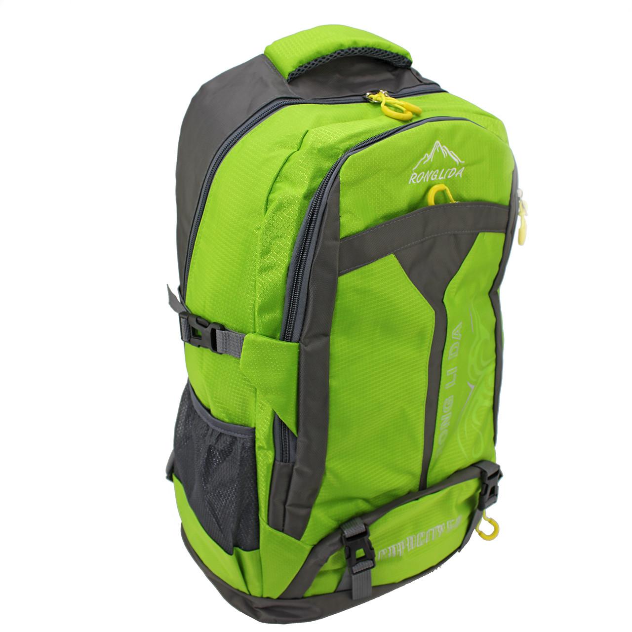Рюкзак стильный салатовый Ronglida, текстиль, 50 л