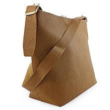 Сумка жіноча Шопінг коричнева без карманів