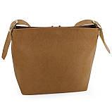 Сумка жіноча Шопінг коричнева без карманів, фото 2