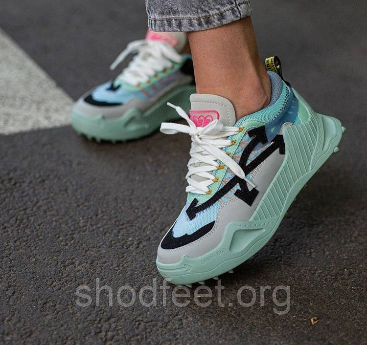 Кроссовки Off-White Odsy-1000 Blue Green