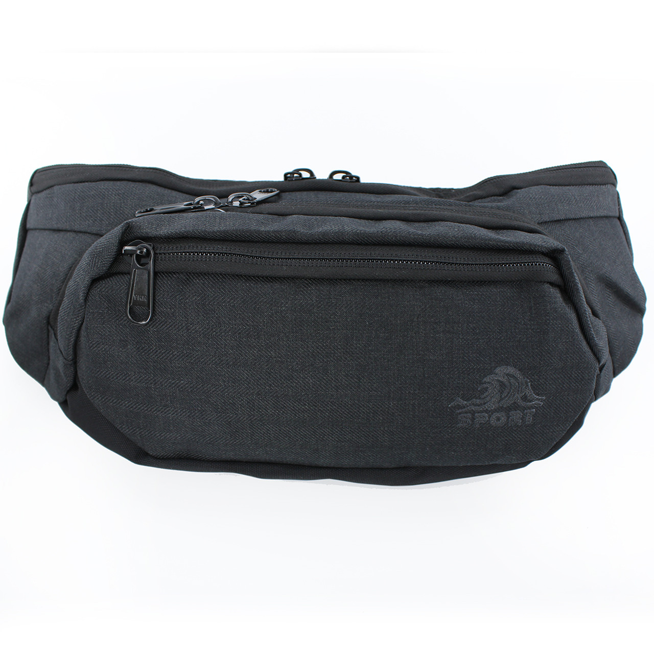 Чорна сумочка на пояс Sport, бананка