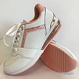 Кроссовки женские бело-розовые LaVento, фото 2