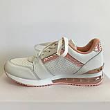 Кроссовки женские бело-розовые LaVento, фото 3