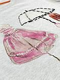 Футболка Стильна жіноча сіра, Преміум якість Lianara, фото 3