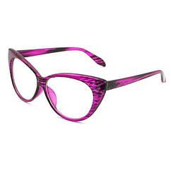 Очки Bananahall Cat Eye линзы прозрачные Розовый принт bnnhll4183, КОД: 975291