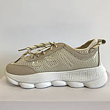 Кросівки жіночі сітка текстильні бежеві Artin, фото 3