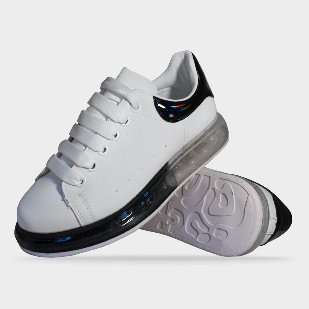 Кросівки жіночі білі з прозорою підошвою Artin
