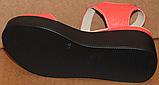 Босоножки кожаные на танкетке от производителя модель СК97-1, фото 4