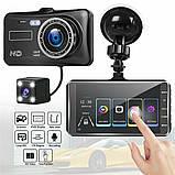 Автомобільний Відеореєстратор DVR S-20 з камерою заднього виду, 4дюйма, парктронік, металевий корпус, фото 9