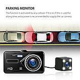 Автомобільний Відеореєстратор DVR S-20 з камерою заднього виду, 4дюйма, парктронік, металевий корпус, фото 10