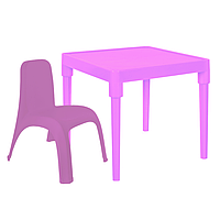Детский стол для творчества + стул Розовый 18-100-20, КОД: 1130273