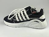 Кросівки для міста жіночі сітка чорні на шнурках Artin р.37-41, фото 3
