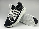 Кросівки для міста жіночі сітка чорні на шнурках Artin р.37-41, фото 4