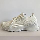 Трендові кросівки жіночі сітка весна-літо білі Artin, р.37-41, фото 3