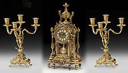 Набор VIRTUS Часы настольные и канделябры на 4 свечи Золотистый 5121-4052SET, КОД: 1622896