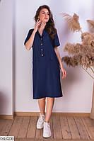 Модное повседневное платье с тонкого джинса арт 512