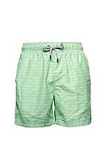 Мужские пляжные шорты IslandHaze Rhombus XXL Зеленый с белым isl0030, КОД: 1048784