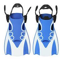 Детские ласты для плаванья AquaSpeed Размеры XS/S (34-39) Спортивные с открытой пяткой Синие
