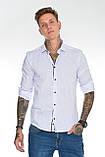 Мужская рубашка Gelix 129901 стрейчевая белая, фото 3