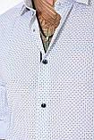 Мужская рубашка Gelix 129901 стрейчевая белая, фото 9