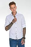 Мужская рубашка Gelix 129901 стрейчевая белая, фото 7