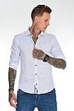 Мужская рубашка Gelix 129901 стрейчевая белая, фото 8