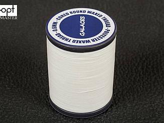 Galaces 0.60 мм белая (S000) нить круглая плетеная из 8 нитей вощёная по коже