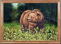 """Рисунок на ткани для вышивания бисером """"Медведь"""""""