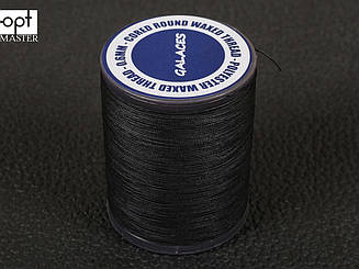 Galaces 0.60 мм черная (S999) нить круглая плетеная из 8 нитей вощёная по коже