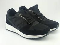 Кроссовки мужские черные LaVento (обувь мужская)