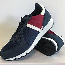 Кроссовки мужские синие с красным LaVento (обувь мужская)
