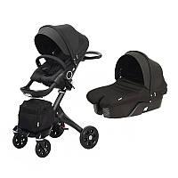 Универсальная коляска DSLAND Xplory V6 all black Черный V62222017B, КОД: 125518
