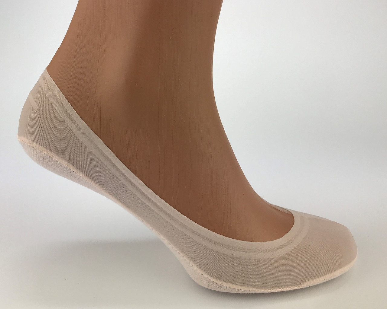 Носки следки с хлопковой стопой и силиконом BRUNO MOLE (подследники женские)
